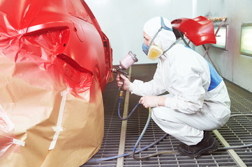car painting in chamber