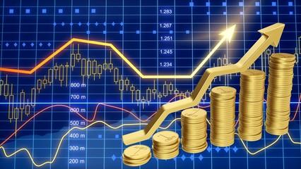 Coin. Money Saving Graph