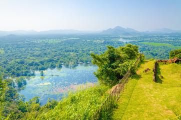 View from Monte Sigiriya, Lion Rock Fortress, Sri Lanka