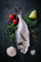 Raw glithead fish