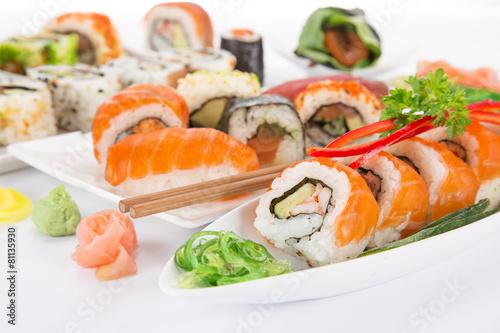 Japanese seafood sushi set - 81135930
