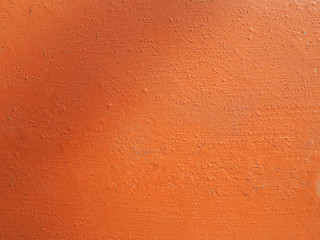Orange plaster wall