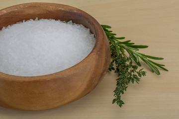 Sea salt crystal