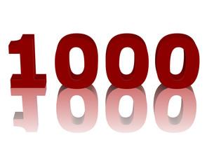 kırmızı renkli 1000 sayısı
