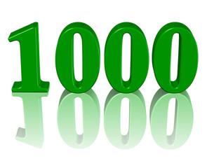 yeşil renkli 1000 sayısı