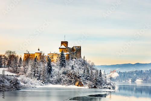 obraz lub plakat Beautiful view of Niedzica Castle, Poland