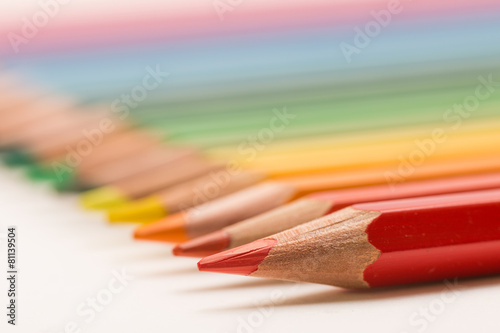 Poster Colored pencils line up