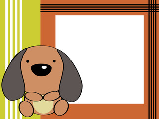 cute baby puppie picture frame cartoon background
