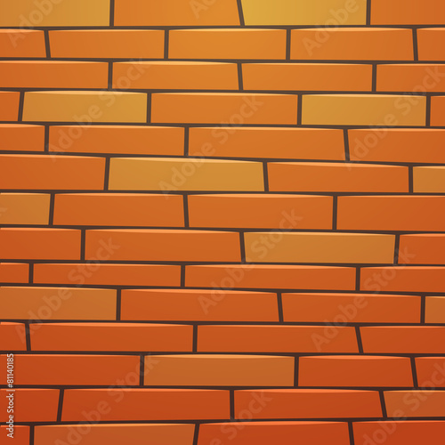 Cartoon Brick Wall - 81140185