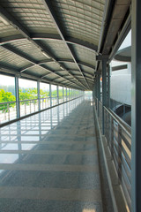 Airport corridor- Stock Image