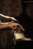 Piano music pianist hands playing