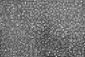 Black and grey mosaic tile background