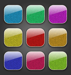Backgrounds with leather texture for the app icons
