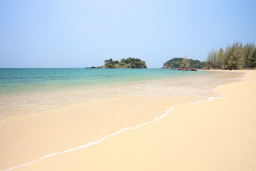 tropical beach in Phra Tong Island south of Thailand