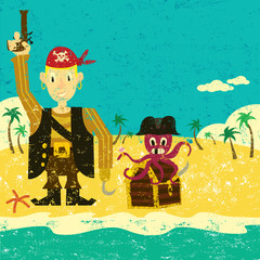 Pirate boy with an octopus