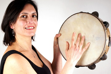 Woman with tambourine