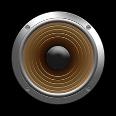 speaker isolated on a black background