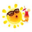 Zdjęcia na płótnie, fototapety, obrazy : Summer sun chilling out with cocktail