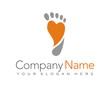 footmark trail foot heart love orange logo vector - 81143929