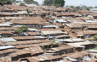 Nairobi, Kenya  Kibera is the biggest slum in Africa.