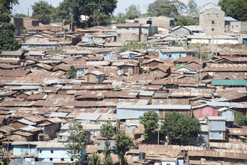 Nairobi, Kenya  Kibera is the biggest slum in Africa.