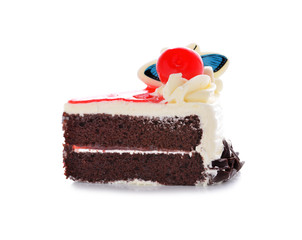 chocolate cake with chocolate cream decoration