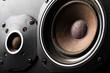 Leinwanddruck Bild - Old speakers