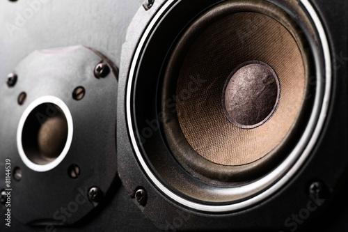 Leinwanddruck Bild Old speakers