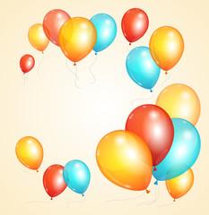 Vector ballon card