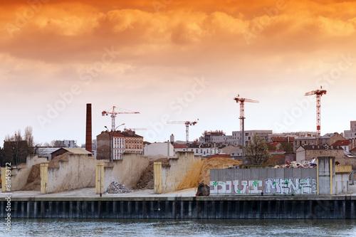 Papiers peints Ville sur l eau Banlieue est de Paris et quai de Seine