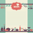 Vector Recipe page design. Vintage style cooking book page - 81145752