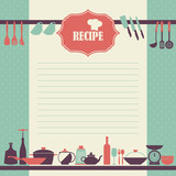 Vector Recipe page design. Vintage style cooking book page