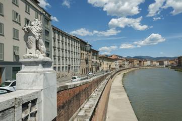 Arno River in Pisa, Tuscany, Italy