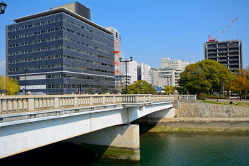 Aioi Bridge, the target of the nuclear bomb, Hiroshima, Japan