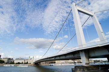 Erzsebet bridge - Erzsebet hid in Budapest, Hungary