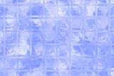 Sky blue color glass brick wall