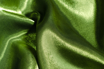 green silk fabric