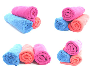 microfiber napkins of different colors