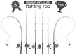 fishing rod icons - 81147942