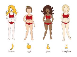 Illustration - female types of figures