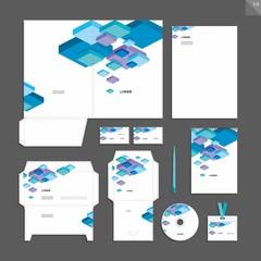 Corporate identity design vector - Stationery set design.