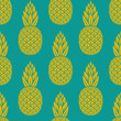 pineapple tropical fruit seamless pattern