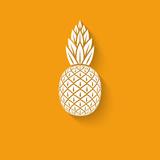Fototapety pineapple tropical fruit symbol