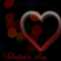 Valentines Day bokeh heart