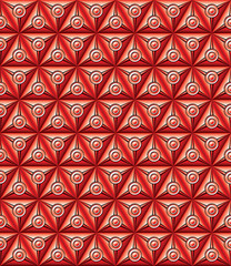 Red abstract geometric background