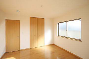 洋室 6帖 シンプル 家具なし 施工例 ウォークインクローゼット付き ドアが閉じたパターン