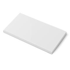 White slim cardboard box template.