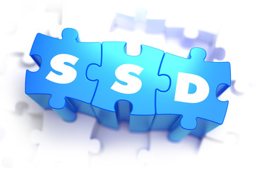 SSD - White Word on Blue Puzzles.