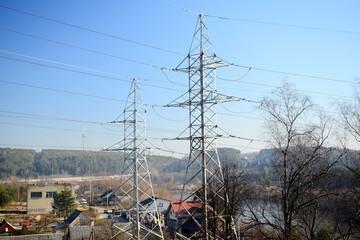 Electric energy plants near Gariunai in Vilnius city