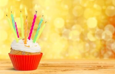Birthday. Birthday cupcake